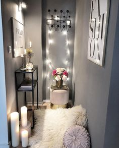 SMALL 🙈space! Our garderobe is always in the dark without any sunlight😅thats why need more lights then usual!!! Do you also a corner with…