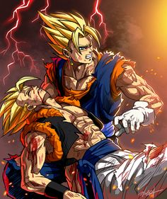 Vegetto and Gogeta by GoddessMechanic2