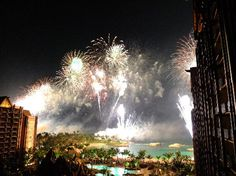 Fireworks at Aulani in Hawaii!!