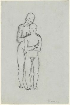 Old Man and Youth 1906  Pablo Picasso