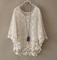 Lace Hollow out Seven sleeve Overall