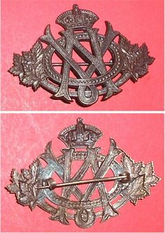 Victorian Order of Nurses of Canada bronze cap badge in Collectables, Badges/ Patches, Military Badges | eBay