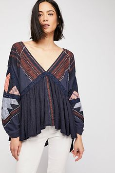 Free People Lancaster Top - Ivory S Boho Outfits, Indian Outfits, Pretty Outfits, Fashion Outfits, Boho Fashion, Autumn Fashion, Japan Fashion, Bohemian Tops, Short Tops
