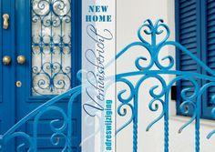 Adreswijziging griekse gevel blauw OTTI - Verhuiskaarten - Kaartje2go ©OTTI