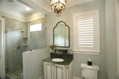 South Tampa Custom Home mediterranean bathroom