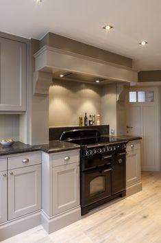 the blue painted kitchen interior design kitchen diner extension 1 Kitchen Mantle, Kitchen Chimney, Cosy Kitchen, Kitchen Cupboard Doors, Kitchen Stove, Open Plan Kitchen, Home Decor Kitchen, Home Kitchens, Kitchen Cabinetry