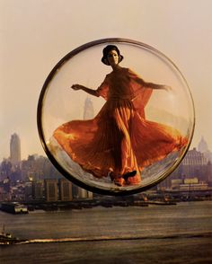 "The New York Times Melvin Sokolsky's ""Paris Pictures. The photographer's fantastical, pre-Photoshop images depict couture-clad women flying around Paris."
