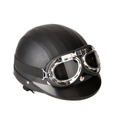 Free 2-day shipping. Buy Motorcycle Scooter Open Face Half Leather Helmet with Visor UV Goggles Retro Vintage Style 54-60cm at Walmart.com Motorcycle Goggles, Buy Motorcycle, Motocross Helmets, Vintage Motocross, Vintage Motorcycles, Vintage Cars, Retro Vintage, Vintage Style, Vespa Vintage