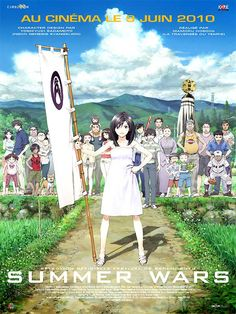 """Summer Wars"" (サマーウォーズ Samā Wōzu) is a 2009 Japanese animated science fiction romance film directed by Mamoru Hosoda, animated by Madhouse and distributed by Warner Bros. The film's voice cast includes Ryunosuke Kamiki, Nanami Sakuraba,. Film Manga, Film Anime, Anime Titles, Film Animation Japonais, Animation Film, Film D'animation, Film Movie, Tsurezure Children, Anime Summer"