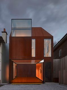 Our design for a corten steel house in West London has received a merit at the Structural Steel Design Awards The rustlike appearance of the weathered corten steel cladding is a striking feature is part of Steel architecture - Facade Architecture, Residential Architecture, Amazing Architecture, Contemporary Architecture, Minimal Architecture, Landscape Architecture, Contemporary Windows, Modern Windows, Contemporary Design