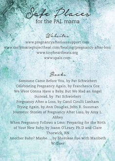 Pregnancy After Loss Resource Card - Wildfeathers Vintage