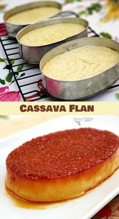 Filipino Dishes, Filipino Desserts, Asian Desserts, Filipino Food, Filipino Recipes, Cassava Recipe, Cassava Cake, Flan Recipe, Pinoy Cooking Recipe