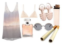 """I want to be adored"" by v4ndaleyes ❤ liked on Polyvore featuring The Kooples, Kiki de Montparnasse, Chanel, The Row, lace, vintage inspired, perfume and pink"