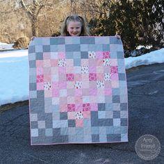 Patchwork Heart Baby Quilt