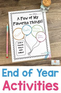 "End of Year Activities for 3rd, 4th, or 5th grade - Use this 38 page pack in your upper elementary classroom to celebrate the #EndOfYear. These printables are fun, engaging, and keep students motivated on those last days. You get autograph pages, favorite books list, ""My Favorite"" lists, My Year in ABCs, 20 countdown activity cards, now and then (beginning and end of year comparison), plus more! #UpperElementary #EndOfTheYear #EndOfYear End Of Year Activities, Writing Activities, Upper Elementary, Elementary Schools, 5th Grade Classroom, Abcs, 5th Grades, School Stuff, Students"