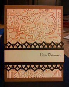 Sheryls Crafting Corner Happy Retirement Masculine Card