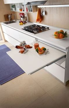 Furnishing a small kitchen - Furniture issues - Modern Kitchen Interior small-kitchen – The furnishing of a small kitchen can be brilliantly solv - Small Kitchen Layouts, New Kitchen Designs, Modern Kitchen Design, Kitchen Ideas, Nice Kitchen, Kitchen Small, Kitchen Island, Small Kitchen Furniture, Small Apartment Kitchen