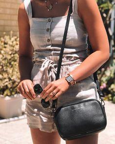 Status Anxiety Best Selling Plunder Bag - Black. AU$169.95. Image via @Instagram/izzysmithh.
