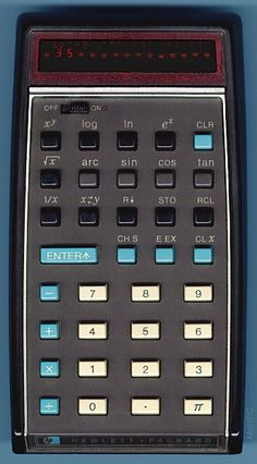 HP's first calculator - HP35, they were once lusted after by techies.