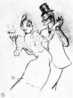 А. Тулуз-Лотрек. Ла Гулю и Валентин. 1894 г.