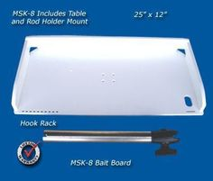 Bait fishing fillet table with a rod holder swivel mount for your boat. This table folds flat and comes apart. Made by Deep Blue Pontoon Boat Accessories, Fishing Accessories, Boat Rod Holders, Home Storage Solutions, Boat Projects, Boat Stuff, Food Trays, Super Yachts, Deck Of Cards