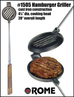 Rome's #1505 Wilderness Griller - cast iron