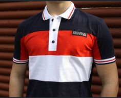 polo shirt by Three Strok Productions Polo Rugby Shirt, Rugby Shirts, Shirt Men, T Shirt, Ss16, Men's Fashion, Polo Ralph Lauren, Stripes, Stickers