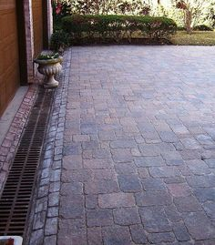 paver driveway with drainage channel LOCAL KTR: