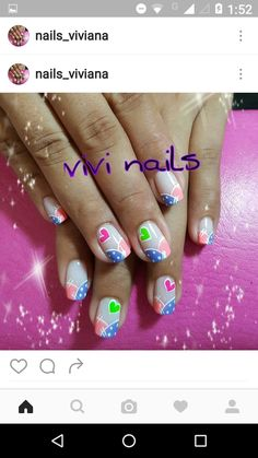 Learn how to create Easy Valentines Day Nail Art Designs - Heart Shaped valentines day nails Easy Valentines Nail Art Designs – Heart Shaped Crazy Nail Art, Crazy Nails, Love Nails, Green Nail Designs, Cute Nail Designs, Valentine Nail Art, Valentines, Romantic Nails, Green Nails