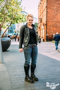 Street Style in Cardiff as part of the Gobinder Jhitta Photography Dr. Martens, Dr Martens Jadon, Doc Martens Boots, Fashion Moda, Fashion Over, Womens Fashion, Dr Martens Outfit, Platform Boots, Character Outfits