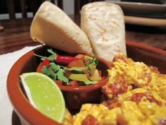 Here is my recipe for Mexican Eggs that you can eat for breakfast, lunch or dinner served with warmed white corn or blue corn tortillas. Mexican Eggs, Blue Corn Tortillas, Egg Recipes, Lunch, Dinner, Eat, Breakfast, Ethnic Recipes, Food