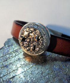 Bismuth Bracelet - Bismuth Crystal in High quality silver plated base metal Bracelet Leather Bracelet for Bismuth Geode Boho Bracelet by GoldenValantine on Etsy Bismuth, Metal Bracelets, Druzy Ring, Boho Jewelry, Silver Plate, Base, Crystals, Rings, Leather