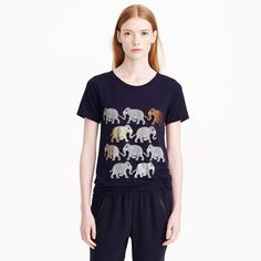 Elephant parade tee : J.Crew {can't believe I missed out -this is the perfect tee (and I really don't like printed tee's)}
