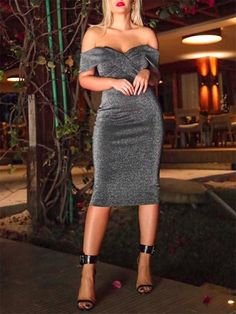 cbab03a44de Short Sleeve Mid-Calf Sexy Off Shoulder Party Dress. Платья МаксиПлатье Без  БретелекМодные Женские ...