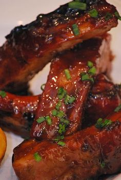 Delicious Honey and Garlic Roasted Ribs ~ Tally Recipes