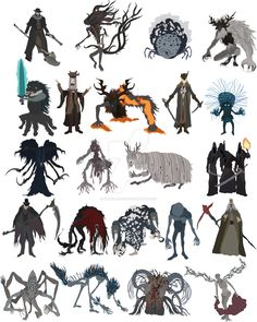 Bloodborne bosses by DigitalCleo.deviantart.com on @DeviantArt