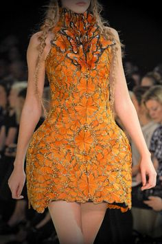 The amazing McQueen Butterfly dress. Spring 2011.