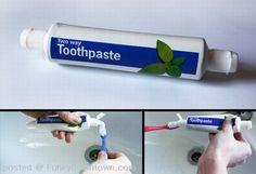 Two Way Toothpaste! GENIUS!!