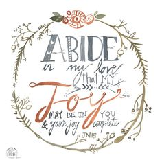 Abide in My Love John 15 PRINT