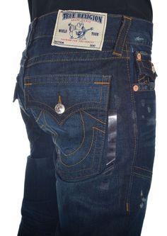 True Religion Mens Jeans Size 34 Slim Moto W Flaps RO Camshaft NWT $332 #TrueReligion #SlimSkinny
