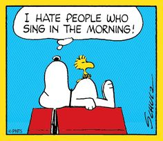 Snoopy on Monday morning.