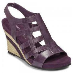 Aerosoles Plush Or Minus Purple Leather