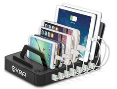 Orkra® Hub USB Desktop Universal Charging Station Multi Device Dock for iPhone, iPad, Samsung Galaxy, LG, Tablet PC and all Smartphones and Tablets (Rose Gold): Cell Phones & Accessories Pc Table, Hub Usb, Usb Charging Station, Charging Center, All Smartphones, Desktop, Tech Gadgets, Cell Phone Accessories, Samsung Galaxy