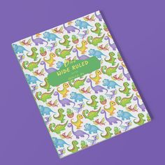 For all the dinosaur loving kids out there. Wide Ruled: Lined Pages Notebook for Kids #notebooksforkids #dinosaurs #schoolbooks #wideruled #linednotebook Lined Notebook, Lined Page, Dinosaurs, Homeschool, Make It Yourself, Projects, Fun, Kids, Log Projects