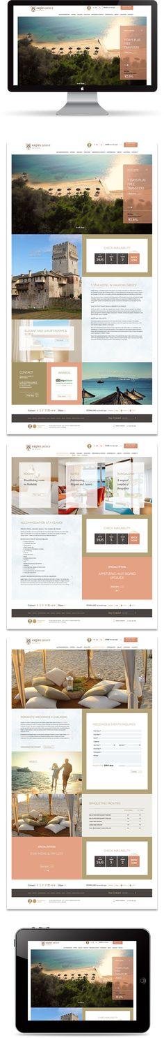 Eagles Palace New Website by Mozaik, via Behance