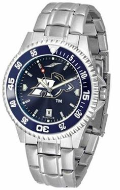 University of Akron Zips Men's Stainless Steel Dress Watch by SunTime. $86.95. Akron Zips men's stainless steel watch. College dress watch with rotating bezel color-coordinated to compliment your favorite team logo. The Competitor Steel utilizes an attractive and secure stainless steel band. Perfect for any occasion, whether casual or formal. Goes great with game day attire. The AnoChrome dial option increases the visual impact of any watch with a stunning radial refl...