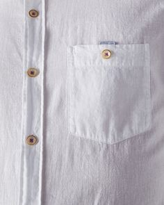 Cotton and linen-blend shirt - White | Shirts | Ted Baker