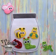 ITH bug jar, would be good for a quiet book- I would try nd make it so you can put the bugs IN the jar by making the front side of the jar thick plastic Baby Crafts, Felt Crafts, Baby Quiet Book, Quiet Time Activities, Jar Design, Quiet Book Patterns, Felt Quiet Books, Toddler Books, Busy Book