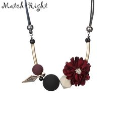 Statement Jewelry Flower and Wood Beads Necklace for Women     Tag a friend who would love this!     FREE Shipping Worldwide | Brunei's largest e-commerce site.    Get it here ---> https://mybruneistore.com/match-right-women-necklace-statement-flower-necklaces-pendants-wood-beads-necklace-for-women-jewelry-yjz-125/