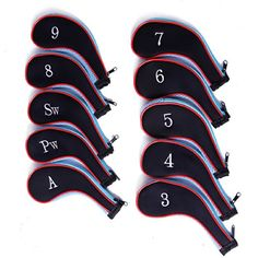HDE Neoprene Zippered Golf Club Iron Covers - Set of 10 (Blue) - http://golf.shopping-craze.com/index.php/2016/05/10/hde-neoprene-zippered-golf-club-iron-covers-set-of-10-blue/